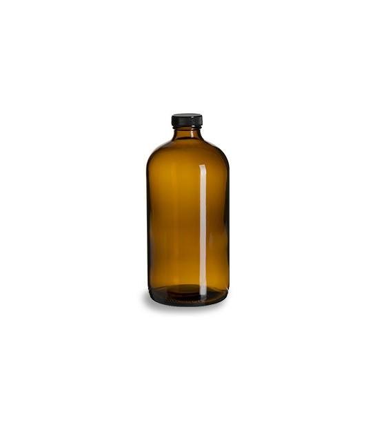 Bouteille en verre ambre 1 Litre